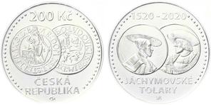 8. 1. 2020 vycházi nová pamětní stříbrná mince k 500. výročí jáchymovských tolarů