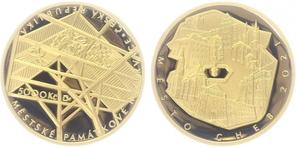 Vyšla 1. zlatá mince ze začínajícího cyklu - Městské památkové rezervace - Cheb