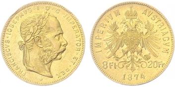 František Josef I., 8 Zlatník 1874 b.z.