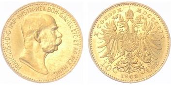 10 Koruna 1909 b.z.