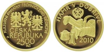 2500 Kč 2010 - Hamr v Dobřívě, PROOF