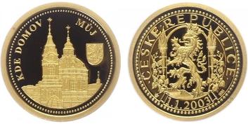 Medaile 2003 - Kde domov můj - 250 let založení chrámu sv. Mikuláše, PROOF
