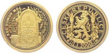 AR Medaile 2000 - Kde domov můj - Staroměstský orloj, PROOF