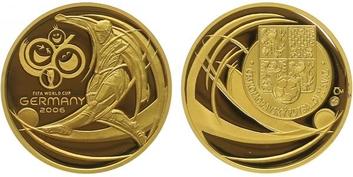 Medaile 2006 - MS ve fotbale, Au 0,9999, 22 mm (7,78 g), etue a certifikát, PROOF