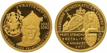 Číslovaná medaile 2011 - Vratislav II. - Národní numismatická epopej, PROOF