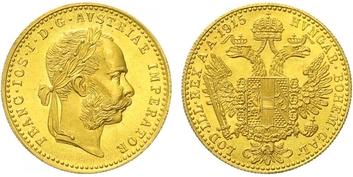 Rakousko - Uhersko, Dukát 1915 - novoražba, Au 0,986 (3,49 g)