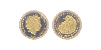 5 Dollar 2011 - Visuté zahrady Semiramidiny, PROOF