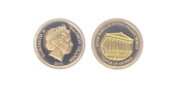 5 Dollar 2011 - Artemidin chrám v Efesu, PROOF