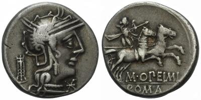 M. Opimius - Denár, Alb.970