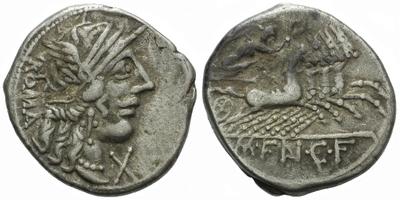 M. Fannius C. f. - Denár, Alb.1032