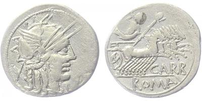 Cn. Papirius Carbo - Denár, A1040