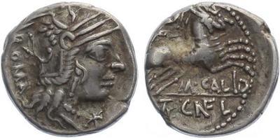 M. Calidius, Q. Caecilius, Metellus Nepos a Cn. Fulvius - Denár, A.1052
