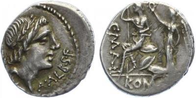 C. Publicius Malleolus, A. Postumius Albinus, L. Cecilius Metell - Denár, A.1148