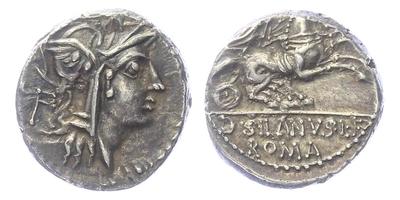 D. Iunius Silanus L. f. - Denár, Alb.1161