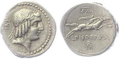 L. Calpurnius Piso Frugi - Denár, A.1174