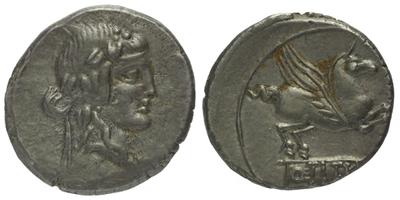 Q. Titius - Denár, A.1181
