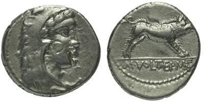 M. Volteius M.f. - Denár, A.1281