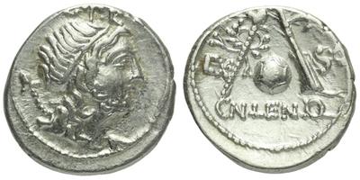 Cn. Cornelius Lentulus Marcellinus - Denár, A.1288