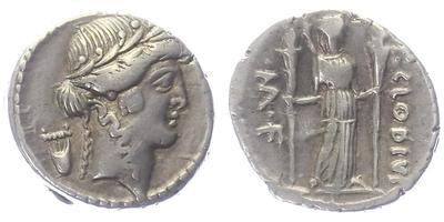 P. Clodius M. f. Turrius - Denár, A.1583