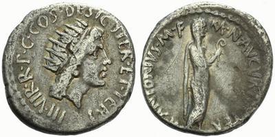 Marcus Antonius - Denár, Alb.1679