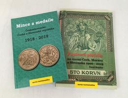 Mince a medaile, Československo, ČR a SR 1918 - 2019 + Papírová platidla na našem území 1900 - 2019
