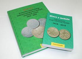 AKCE! Komentovaný katalog československých a českých mincí 1919 - 2019 + Mince a medaile, československo, česká a slovenská republika 1918 - 2019