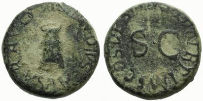 Claudius - Quadrans, Modius / SC, RIC 84