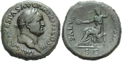 Vespasianus - Sestercius, RIC 460