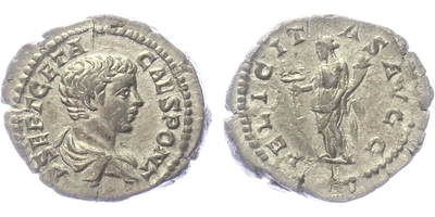 Geta, jako Caesar - Denár, RIC.8