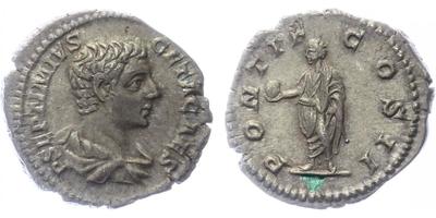 Geta, jako Caesar - Denár, RIC.61b