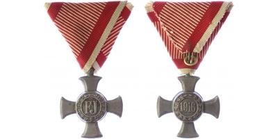 Záslužný kříž, železný na civilní stuze