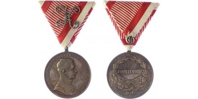 Medaile za statečnost, stříbrná medaile pro důstojníky