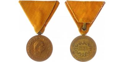 Čestná medaile za 25-letou záslužnou činnost na poli hasičském a záchranářském