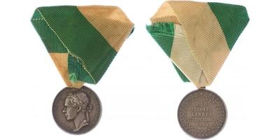 Stříbrná pamětní medaile pro obránce Tyrol z roku 1848