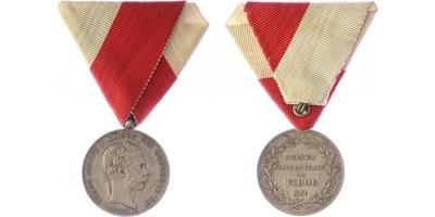 Pamětní medaile pro tyrolské zemské ochránce z roku 1866