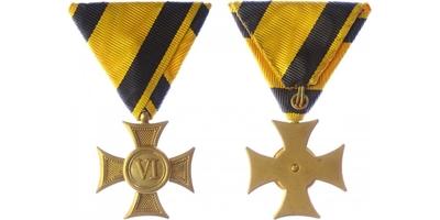 Vojenský služební odznak pro poddůstojníky a mužstvo, kříž III. třídy za 6 let služby