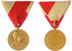 Jubilejní pamětní medaile z roku 1898 na civilní stuze