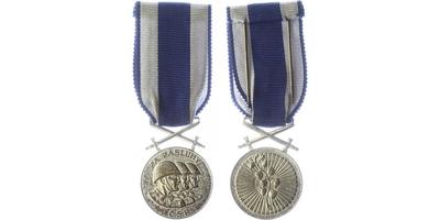 Československá vojenská medaile Za zásluhy, stříbrná medaile, vydání Londýn