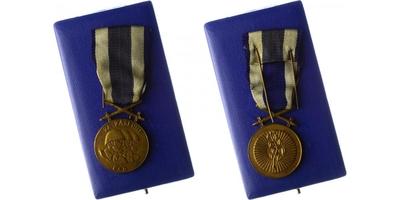 Československá vojenská medaile Za zásluhy, bronzová medaile, vydání Londýn, VM.13