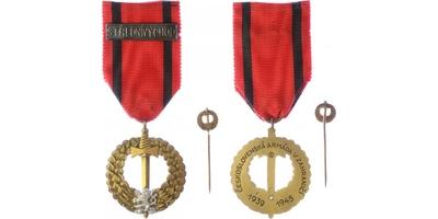 Pamětní medaile československé armády v zahraničí, vydání Praha 1945