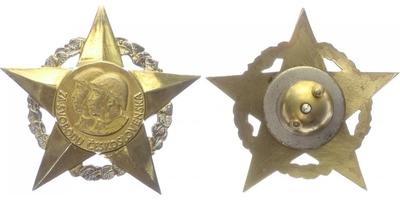 Československý vojenský řád Za svobodu, I. stupeň, stříbro zlacené, puncováno,výroba