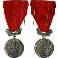 Medaile Za zásluhy o obranu vlasti, I. vydání, stříbro, punc., Zukov Praha, VM.43-I