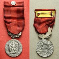 Medaile Za zásluhy o obranu vlasti, II. vydání, stříbro, punc., mincovna Kremnica