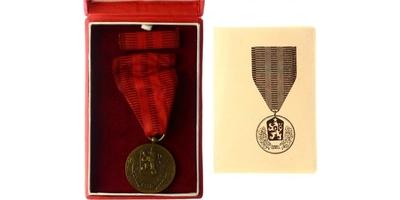 Medaile Za službu vlasti, II. vydání, VM.44-II, stužka, původní etue