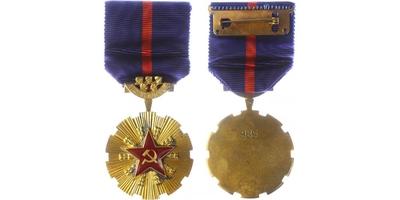 Řád Vítězného února, číslo 985, stříbro, původní etue, VM.58