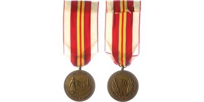 Bronzová pamětní medaile IV. pluku Stráže svobody