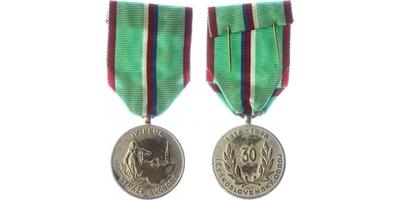 Stříbrná pamětní medaile IV. pluku Stráže svobody