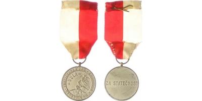 Pamětní medaile partyzánské organizace generála Dr. J. Koutňáka VELA, stříbrná medaile