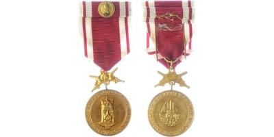 Stříbrná medaile DOK ,,Za věrnost a branné služby'', VM. 76a