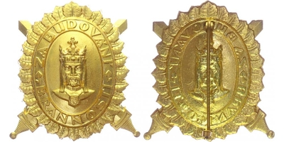 Čestný odznak Karla IV. Za budování brannosti, I. třída, zlatý odznak